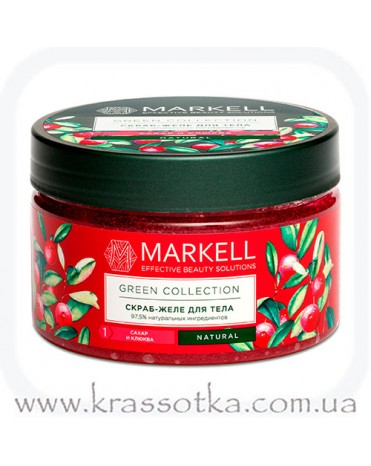 Скраб-желе для тела сахар и клюква Green Collection Markell